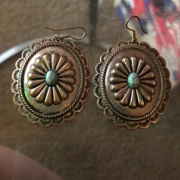 Silver Concho Earrings